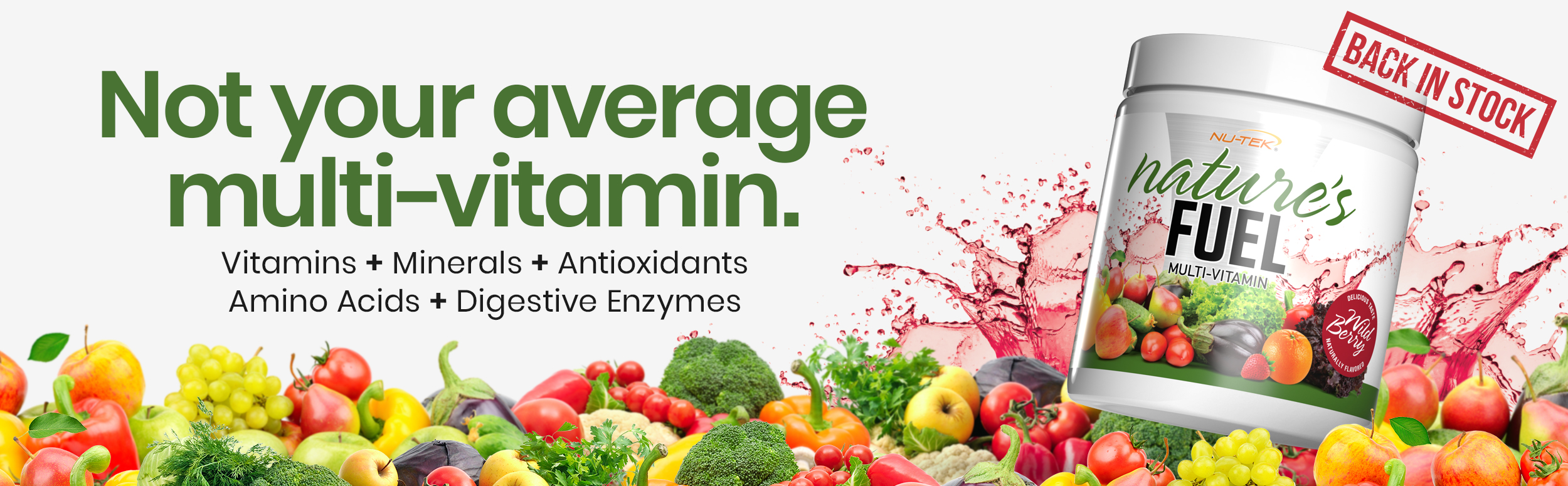 Nu-Tek Nature's Fuel - Not your average multi-vitamin - Click to Learn more