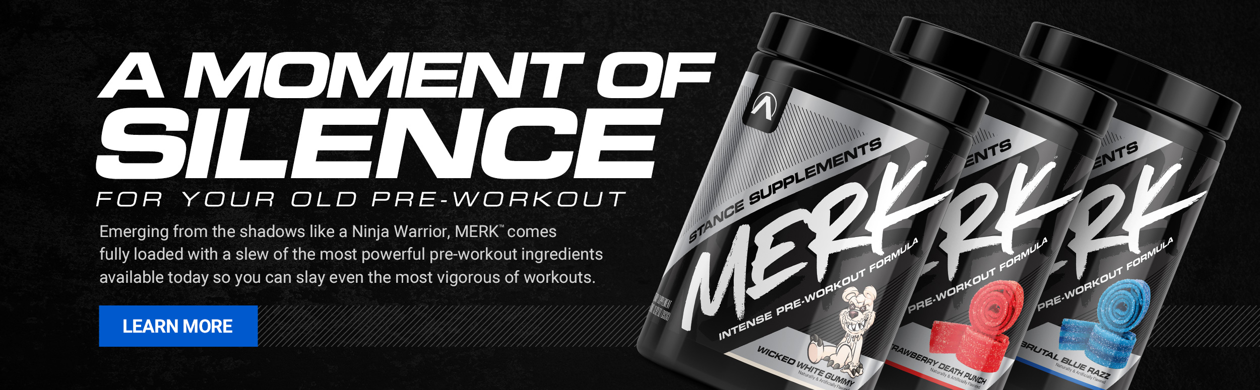 Stance Supplements MERK - A moment of silence for your old pre-workout - Click to learn more